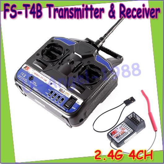 38.89$  Buy here - http://alicm7.shopchina.info/go.php?t=32784802026 - Wholesae 1pcs New 100% Original Flysky 2.4G FS-T4B 4CH Radio Model RC Transmitter & Receiver Helicopter Airplane  #magazine