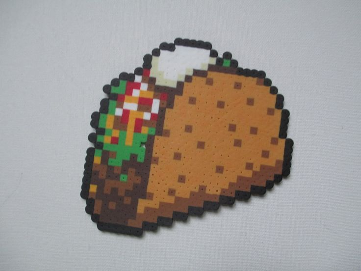 Taco perler beads by BrodoBagginz