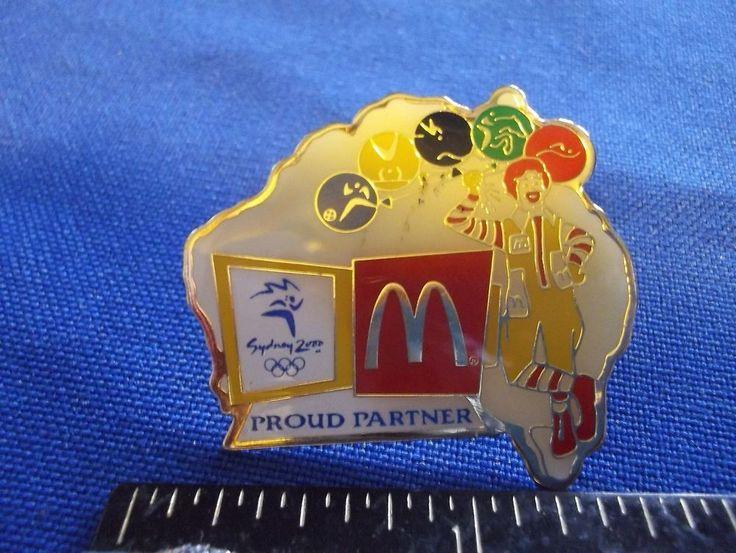 2000 Sydney Olympic Sponsor McDonald's Pin #2