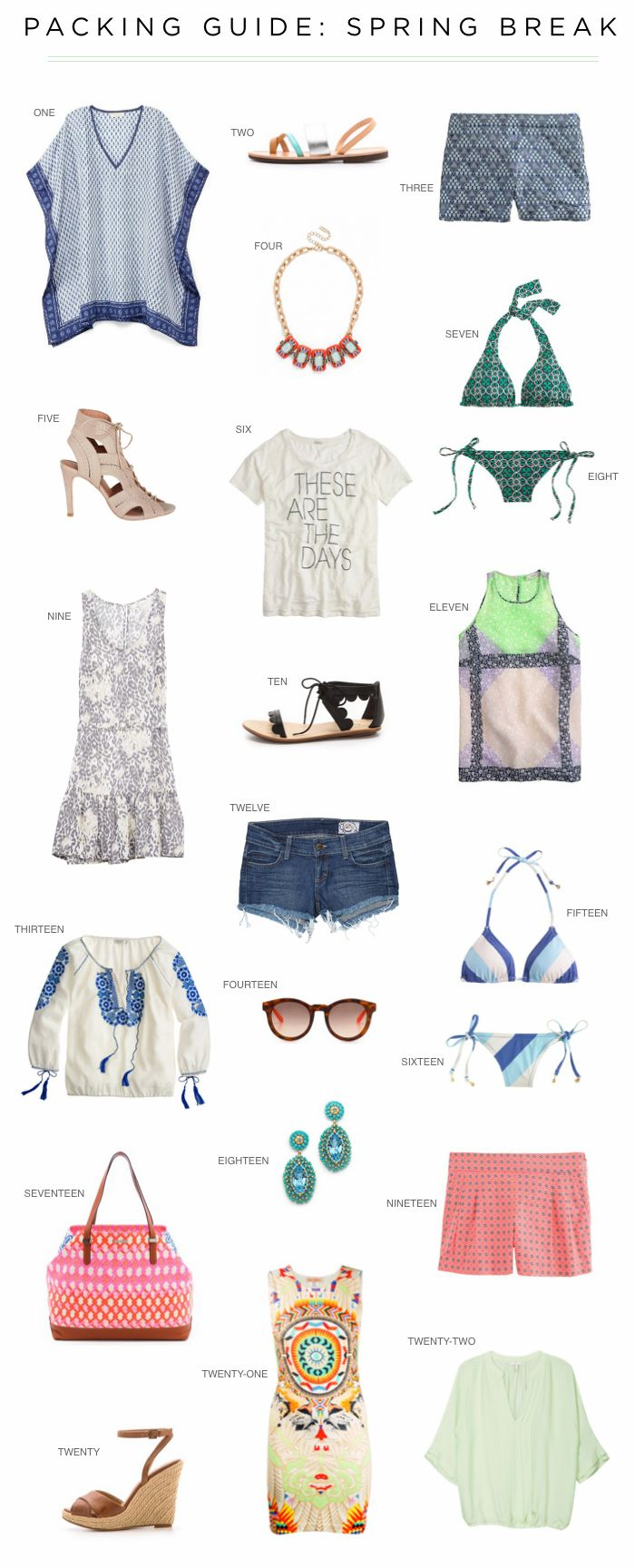 Packing Guide: Spring Break - Love You, Mean It