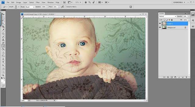 simple as that: Adding Background Textures - so easy!! I used Photoshop elements and it was simple.  Great tip!!