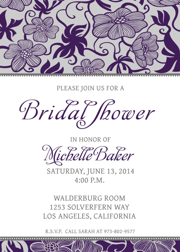 16 best Bridal Shower Invitations images on Pinterest - bridal shower invites templates