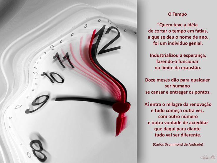 O tempo (Carlos Drummond de Andrade) - By Clarissa Klein