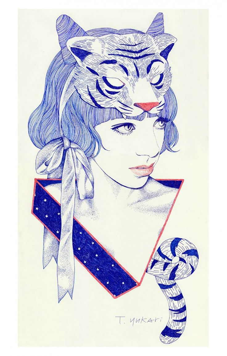 "Yukari Terakado is an talented illustrator, born in Japan. Titled ""Tiger-Girl"", here's one of his recent work. Focus: Illustration, Fashion, Drawing"