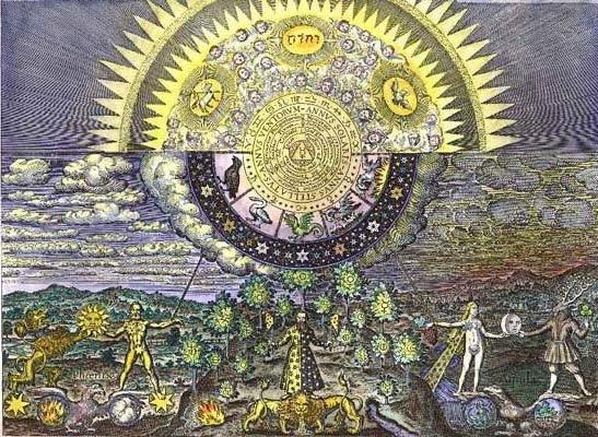 """Symbolic representation of The Emerald Tablet of Hermes Trismegistus: """"As below, so above; and as above so below. With this knowledge alone you may work miracles."""""""