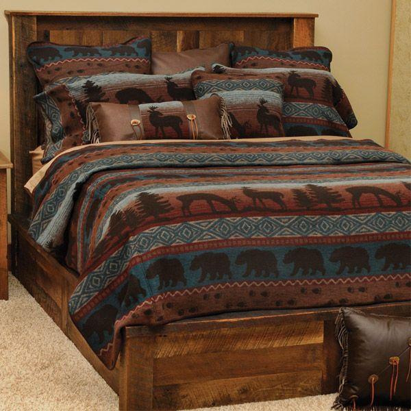 Rustic Wildlife Coverlet Bedding Ensemble Bedroom Re Dos