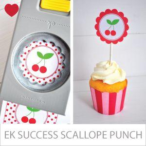 EK Success Cupcake topper bloem pons