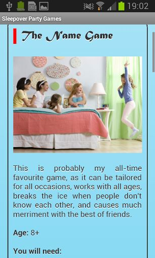 So you're going to organize the best sleepover party world has ever seen? Then you definitely need some advice. Download Sleepover Party Games app – it will give you dozens of helpful tips!<p>Sleepover party is always a special event – not in life, of course, but at the end of the week definitely. You want everything perfectly organized, lots of games should be prepared to play and design of the room should perfectly feet to the theme of the sleepover party.<p>Will it be romantic theme with…