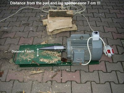 Log Wood Screw Type Splitter Cones Cleaver Ø 80mm Wood splitter log splitter splitter cone