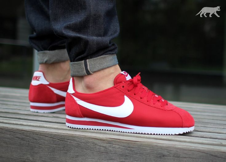 best cheap aebd9 6818f Nike Classic Cortez Nylon Red