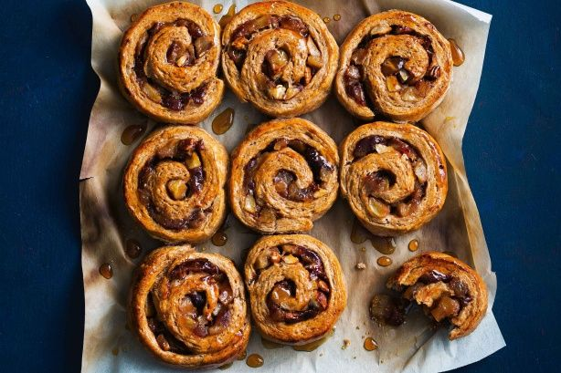 These wholesome sticky scrolls are the perfect are the perfect way to spend a winter afternoon - they're packed with fruit and sweetened naturally with dates.