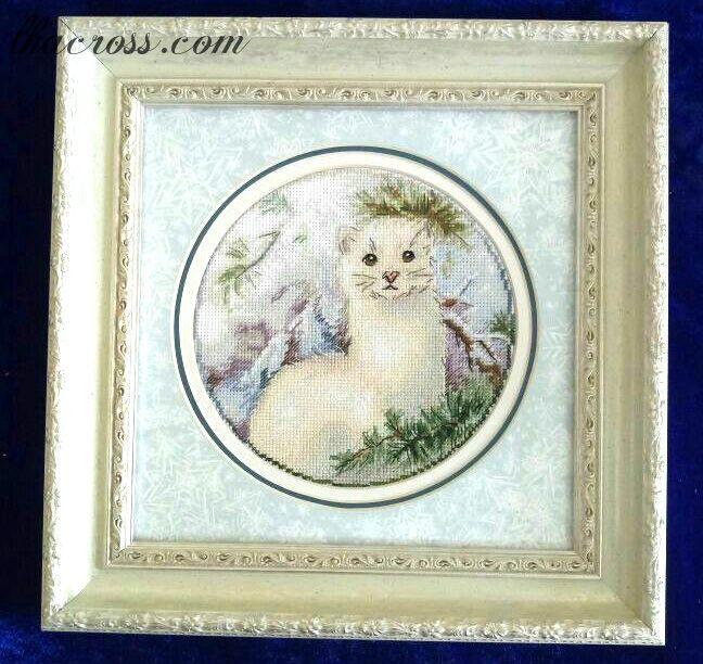 """Cross stitch pattern """"Weasel""""."""