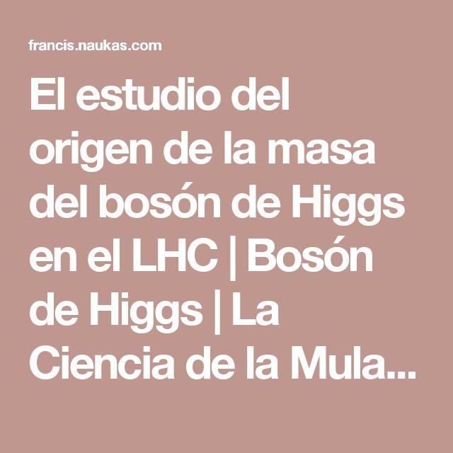 El estudio del origen de la masa del bosón de Higgs en el LHC | Bosón de Higgs | La Ciencia de la Mula Francis