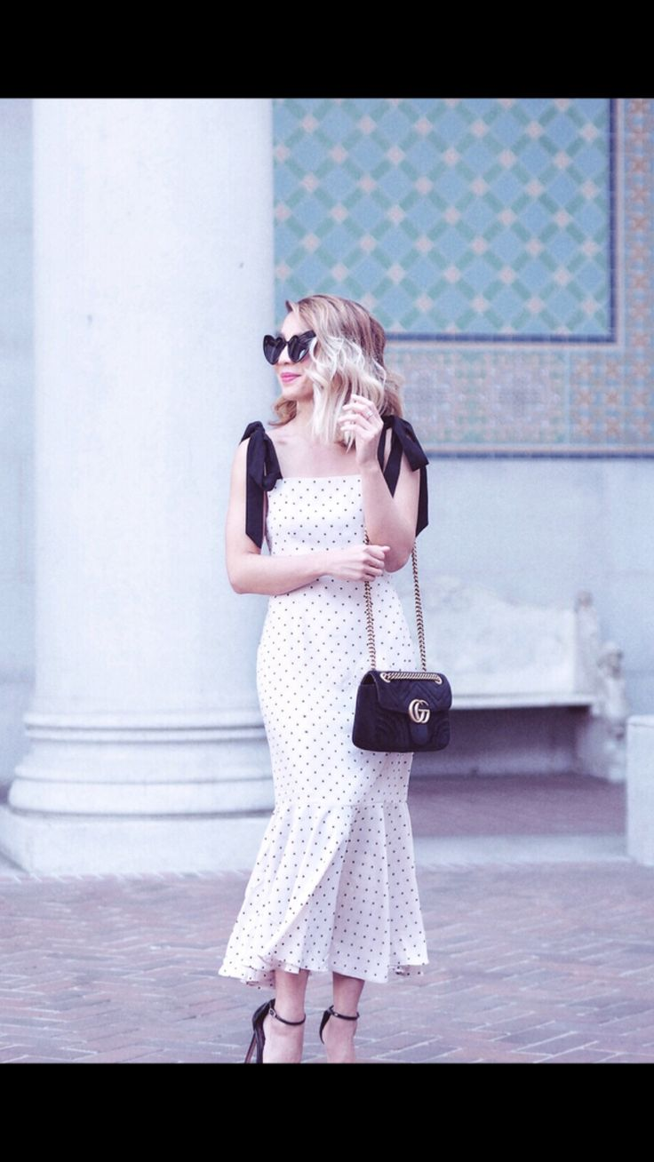 Lovers and Friends classic polka dot dress! The mermaid silhouette gives your curves too!! http://liketk.it/2uHIB #liketkit @liketoknow.it #LTKwedding #LTKbump #LTKitbag