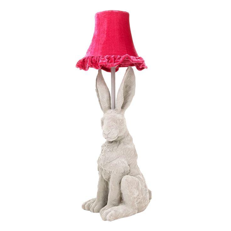 Designer grey hare lamp