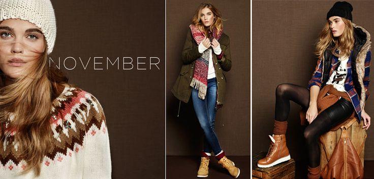November el nuevo catálogo de Stradivarius - http://www.mujercosmopolita.com/november-el-nuevo-catalogo-de-stradivarius.html