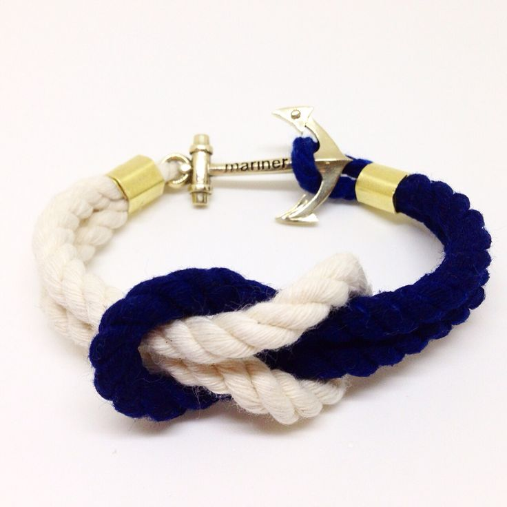 Braslet with anchor. Hand crafted. Design by MARINERbrand. Sailing anchor sea freedom