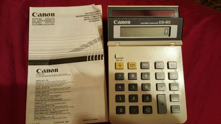 Vintage 1980's Canon Electronic Calculator KS-80 Works  comes with instructions #Canon