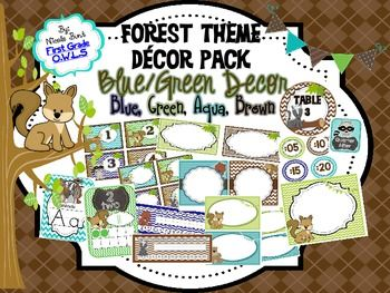 classroom themes forest | Forest Theme Classroom Decor Pack