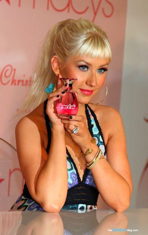 Christina Aguilera perfume launch