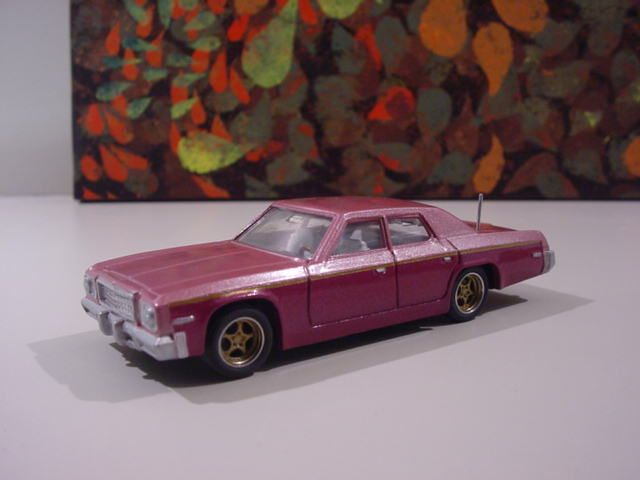 Dinky Plymouth Gran Fury.  Repainted and modernised.  www.diecastdesigns.net