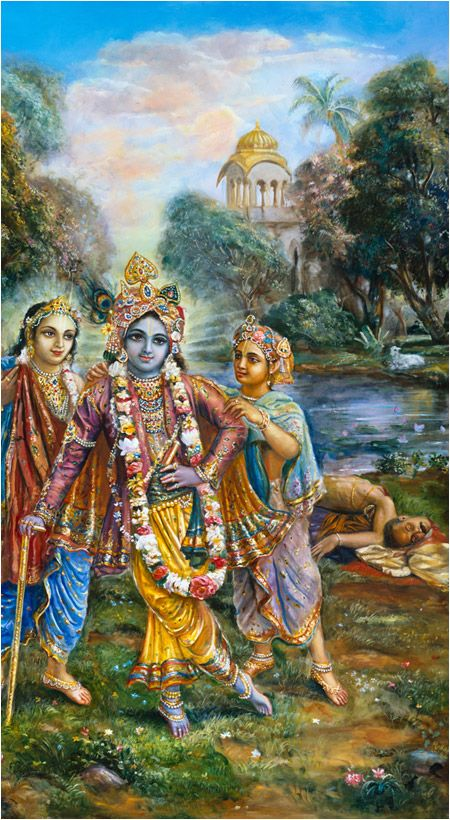 Lord Krishna & Washerman