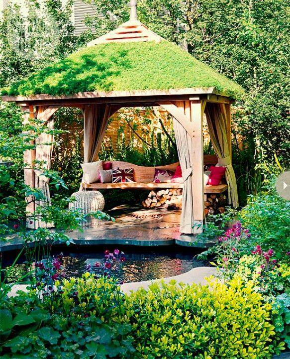 663 best images about garden arches arbors pergolas for Virtual koi fish pond