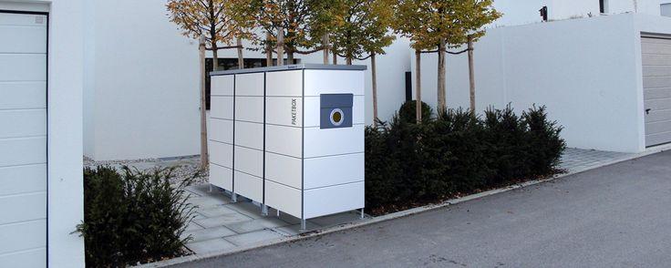 Mülltonnenhaus mit integriertem Paketkasten und seitlichem Zugriff für den Gelben Sack!