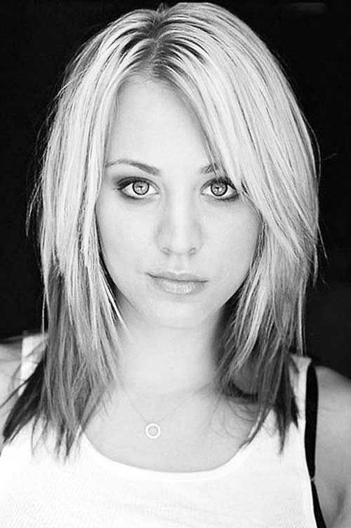 Kaley Cuoco Short to Medium Hair