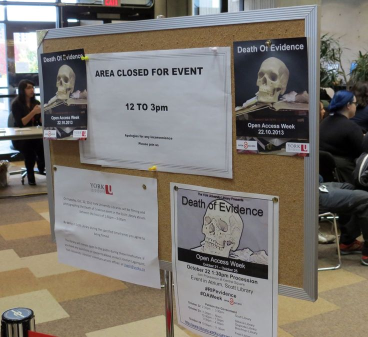 Board to Death ...of Evidence in #Canada, Oct.22 #YorkU #RIPevidence #OAweek