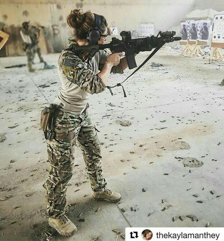 Gun range practicing