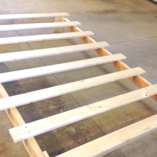 $30 & 2 hour platform bed frame. Same as the one in the instructable, except lowered.