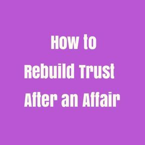 can you rebuild trust after cheating