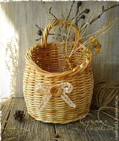 Корзины, коробы ручной работы. Ярмарка Мастеров - ручная работа Уютная корзиночка. Handmade.