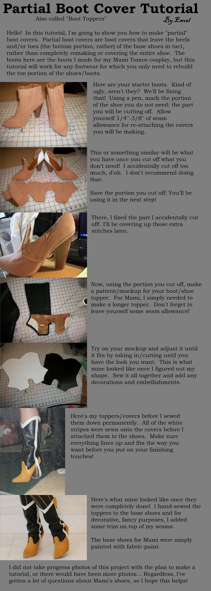 Partial Boot Cover/Topper Tutorial by EnvelCosplay