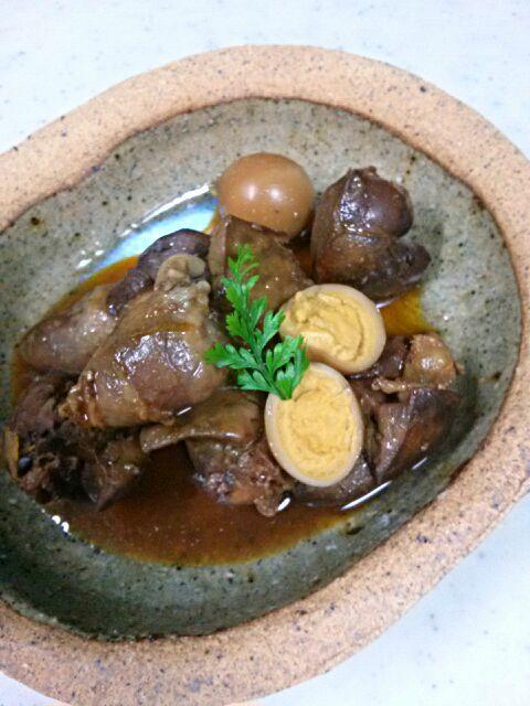 とかげさんのレシピから玉子を入れるのを発見☆うずらの玉子入れてみました♪ とかげさんに感謝(#^.^#) - 69件のもぐもぐ - とかげ_(:3 」∠ )_さんの鶏レバーの甘辛煮 by jurikiyoshi