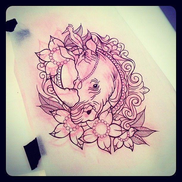 about to start this little cutie! #rhinotattoo #putabirdonit