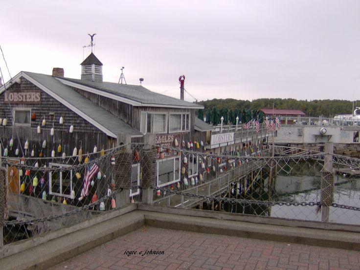Fishermen's lobster wharf, Digby Nova Scotia