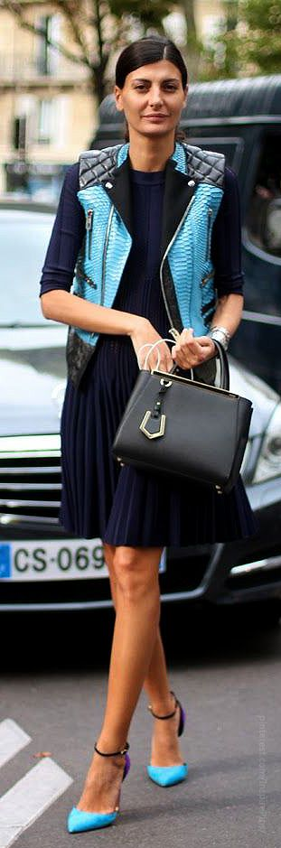 Giovanna Battaglia with mini Fendi