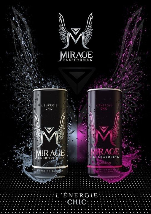 Mirage energy drink.  Great logo PD.