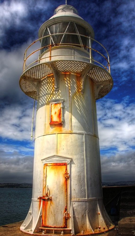Brixham Lighthouse - the welcome light after a long morning crabbing in Captain Bugglepuff's trawler boat - welcome home to Brixham!