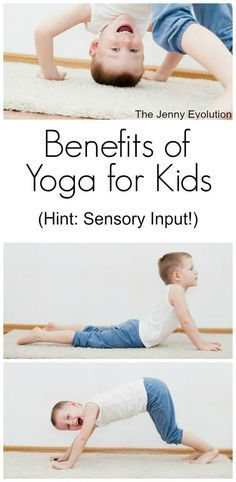 Yoga is a GREAT way to get proprioceptive (joints/heavy work) and vestibular (inner ear/balance) input. Try out these yoga poses for kids!