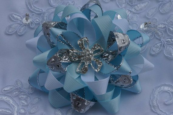 blue hair bow  baby blue hair bowchristening hair by AmazinGems, $7.00. its AMAZING!