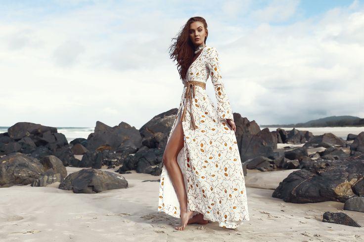 ATLANTIS MAXI WRAP DRESS - FLORA PRINT - Lokoa Leather #boho #gypsy #style