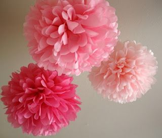 Bramblewood Fashion ❘ Modest Fashion Blog: Tissue Paper Pom-Poms DIY Tutorial...maybe add some over the dining room table with colors that match the house décor.