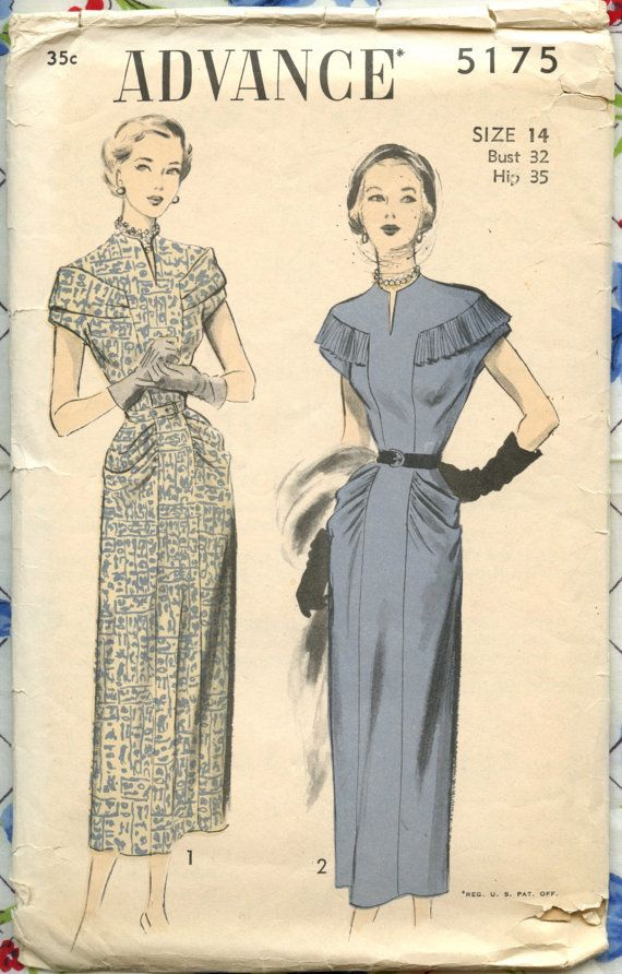 1940s Vintage Sewing Pattern Advance 5175 by GreyDogVintage