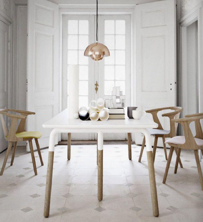 Stůl Raft Table od AndTradition, bílý   DesignVille