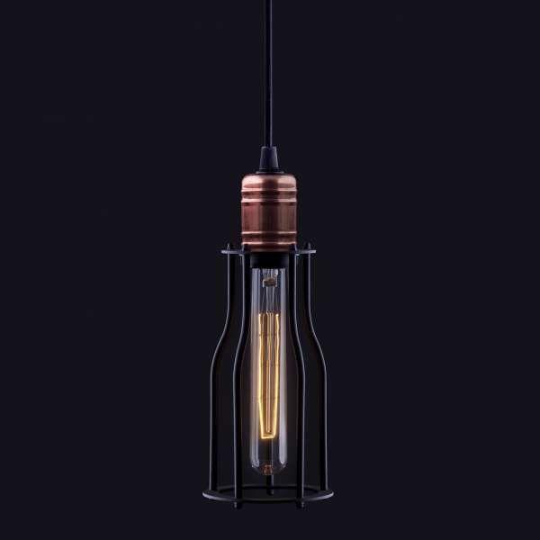 LAMPA wisząca WORKSHOP 6337 Nowodvorski industrialna OPRAWA ZWIS pręt drut miedź czarny