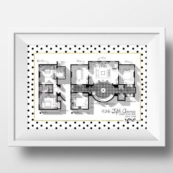 Gossip Girl Apartment Floor Plan TV Show Floor Plan by DrawHouse