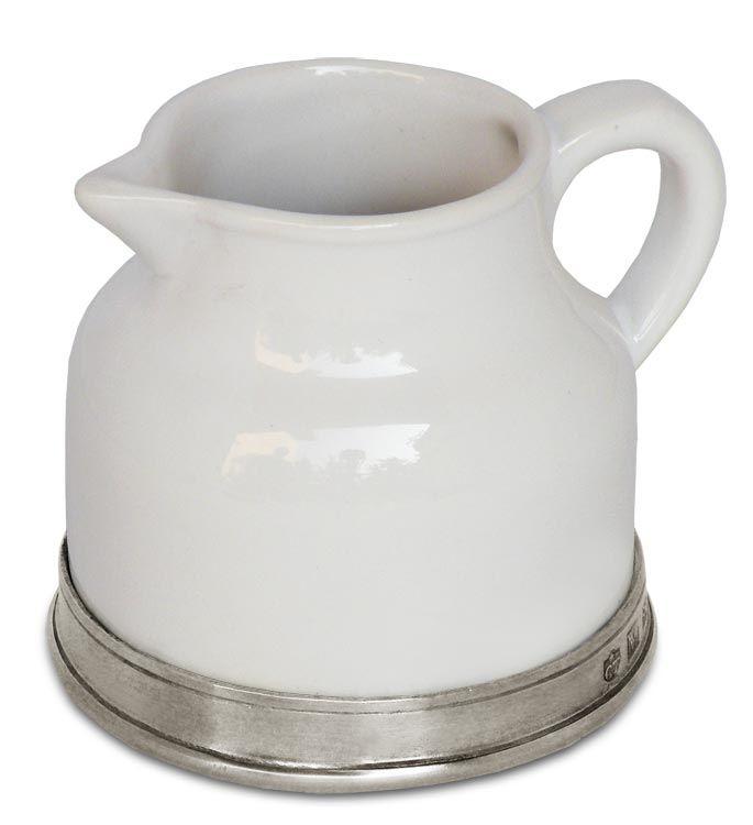 Lattiera cm h 8 (Peltro, Ceramica) - collezione: Convivio. Cosi Tabellini.
